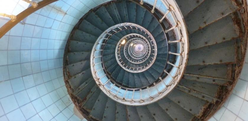 Treppenhaus des Phare de la Coubre